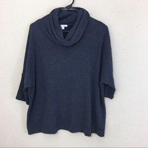 James Perse Cowl Neck Boxy Sweatshirt 3 Large